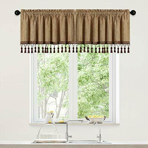 Thick Double Sided Chenille Window Curtains Tier for Kitchen Coffee Curtain V...