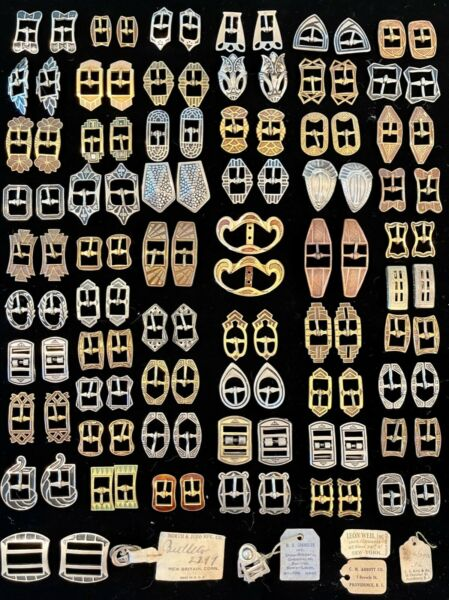 Extraordinary Antique Shoe Buckles Shoe Clips Collection 58 Pairs ALL SIGNED