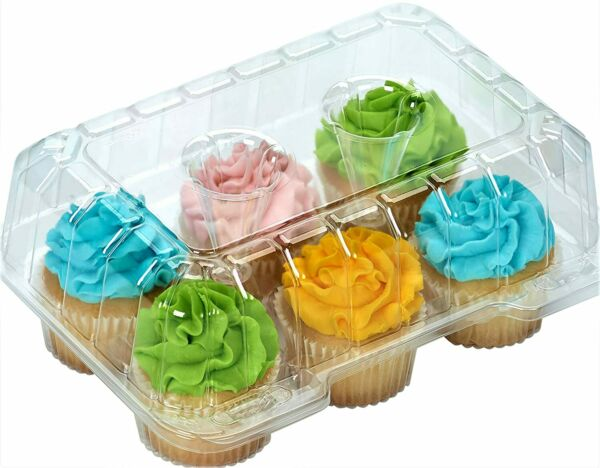 Clear Cupcake Boxes Cupcake Containers Plastic Disposable cupcake boxes carri...