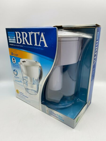 BRITA PITCHER 10 CUP WATER FILTRATION SYSTEM GRAND MODEL INCLUDES FILTER NIB