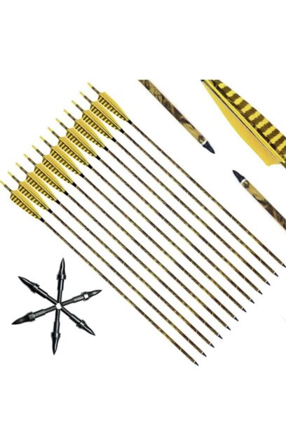 Narchery 31 Inch Carbon Arrow Practice Hunting $15.00