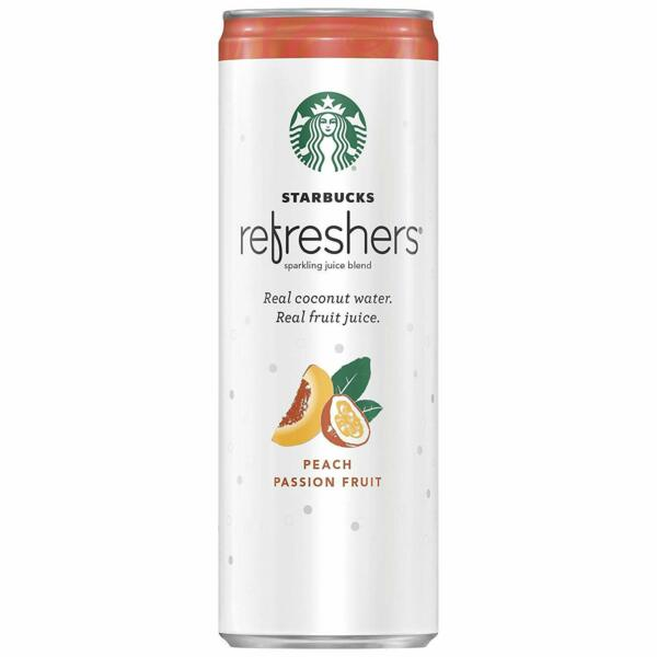 Starbucks Refreshers with Coconut Water Peach Passion Fruit 12 Fl Oz 12 Pack