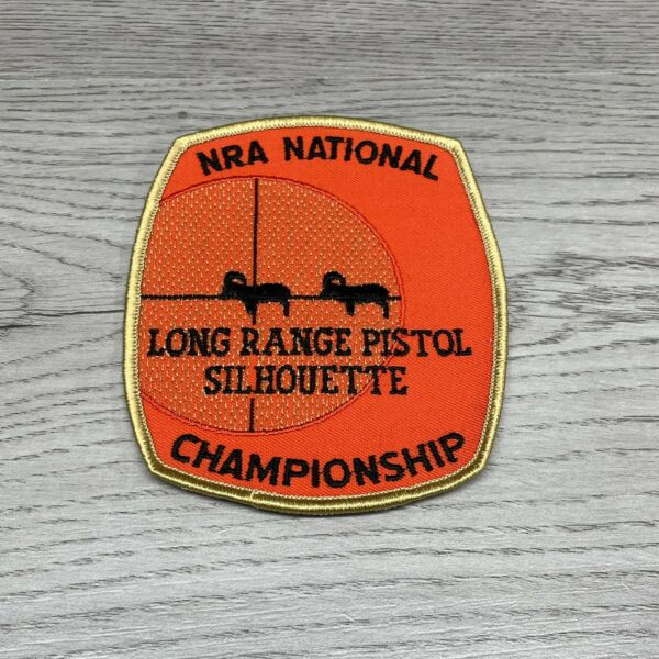 NRA National Championship Long Range Pistol Silhouette Patch Rifle. New $11.99