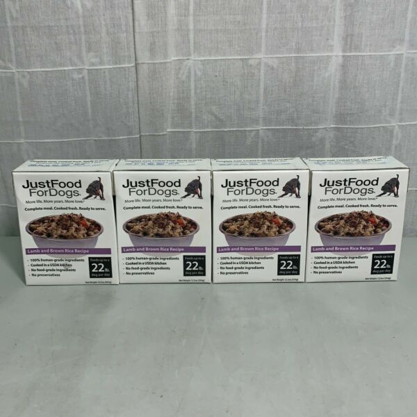 Just Food For Dogs Fresh Lamb And Brown Rice 22 Lb Dog Per Day 12.5Oz Pack Of 4 $19.99