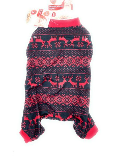 PET CENTRAL RED REINDEER DOG CHRISTMAS WINTER PAJAMAS SIZE SMALL NEW $9.99
