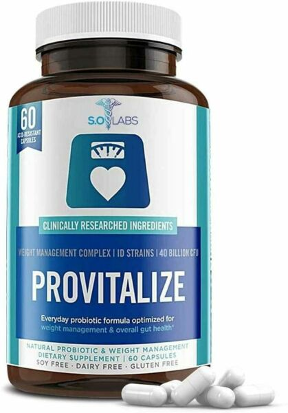 PROVITALIZE Natural Probiotic and Weight Management Dietary Supplement. 60 ct $22.37
