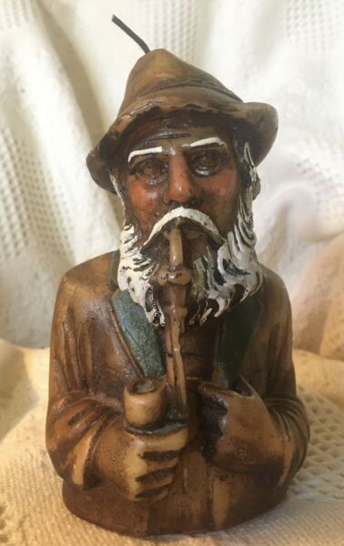 Black Forest OLD MAN SMOKING PIPE WAX CANDLE