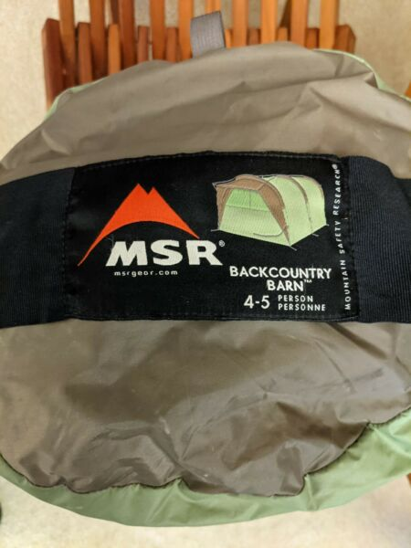MSR Mountain Safety Research Backcountry Barn Tent Single Wall 4 5 Person RARE $1250.00