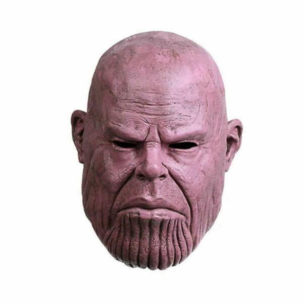Thanos Mask Gauntlet Marvel Costume Latex War Horror Scary Halloween for Adults $18.98
