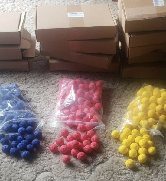 Multiple 100 count NEW Ammo compatible for Nerf Rival guns in Red Blue Yellow