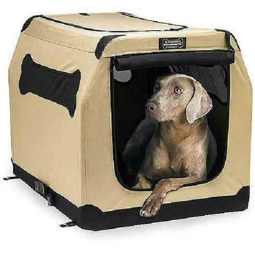 XL Dog Pet Cat Crate Kennel Portable Soft Fabric Home Travel Lightweight Durable $61.99