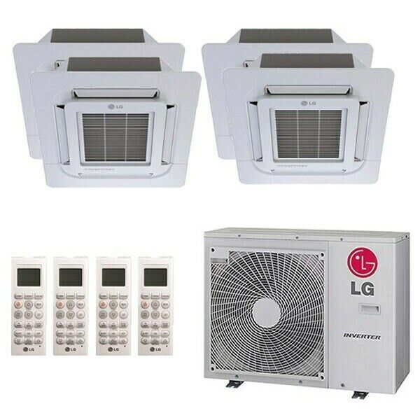 LG Ceiling Cassette 4 Zone LGRED Degrees Heat System 30000 BTU Outdoor ... $4731.84