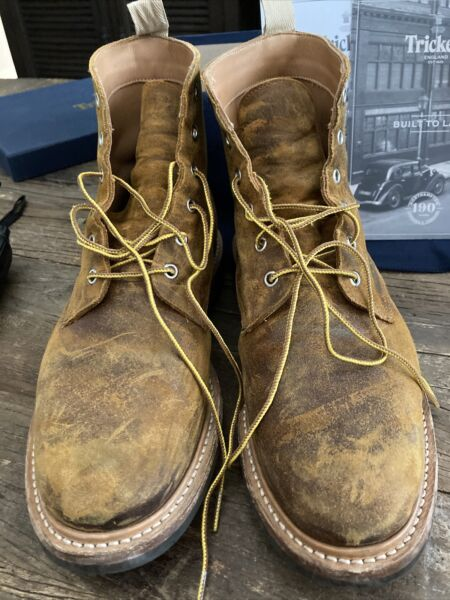 Tricker#x27;s of England Logger Boots Size 10 Excellent Condition