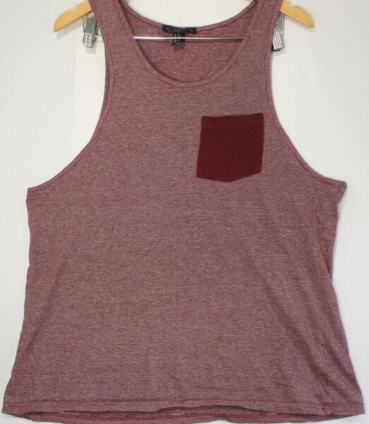 Men's Red and White Striped Tank Top Size XL $6.20