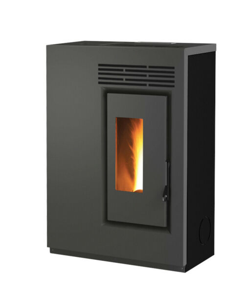 Pellet Stove Green E60 Black 55 Kw Slim 9 13 16in Of Thickness $797.79