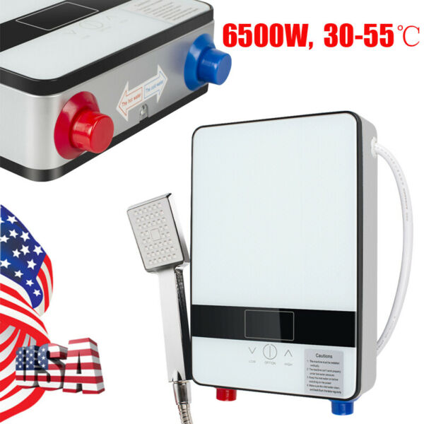 6500W Electric Tankless Instant Water Heater Heating Hot Shower Head Bathroom A $71.99