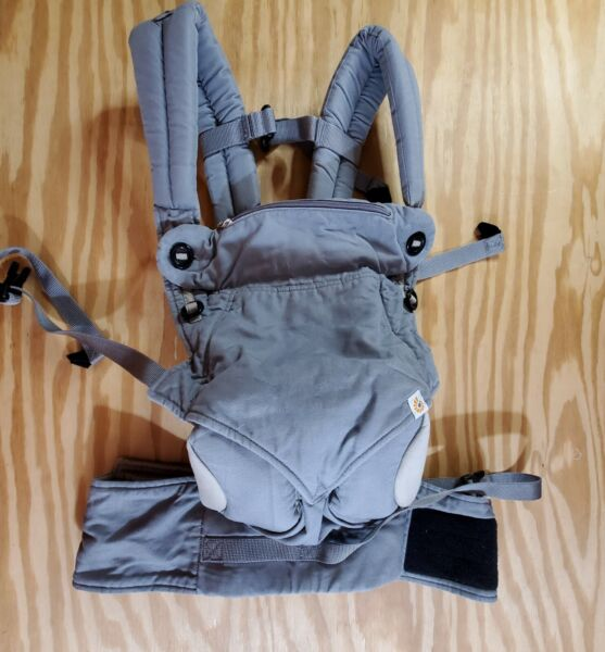 Ergobaby 360 Baby Carrier 4 Position Grey 100% Cotton Preowned Good Condition $39.90