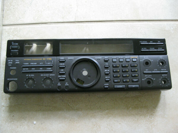 Icom IC 736 Front panel in Decent shape and all buttons etc work fine $25.00