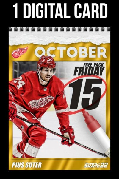 PIUS SUTER RED WINGS GOLD FREE PACK FRIDAY OCT 15 2021 Topps SKATE DIGITAL CARD