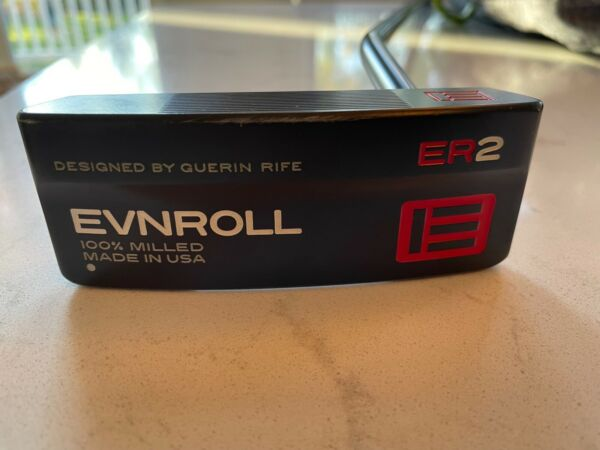 EVNROLL ER2 Black 34 inches 1* Upright with Headcover and extra Gravity Grip