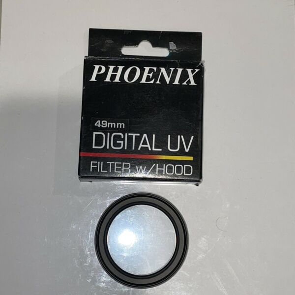 Phoenix Digital UV Filter 49mm w Built In Hood Step Up To 58mm Filter Size New $4.95