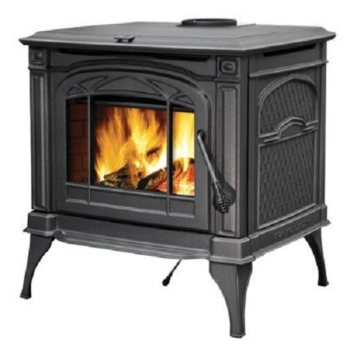 CAST TECH WOOD LOG STOVE burns LOGS and WOOD PELLET Cast Iron ANTIQUE Replica