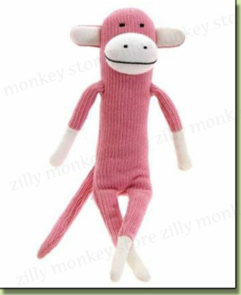Paul Frank Julius Knitted Pink Sock Monkey Soft Plush Doll Toy For Baby Kids