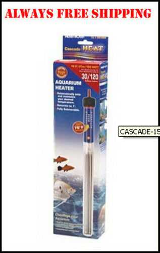 CASCADE 150 WATT SUBMERSIBLE HEATER. 10 INCH FOR 30 GALLON AQUARIUM