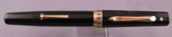 Wahl Eversharp Black facetted Lever Fill Fountain Pen working fine point
