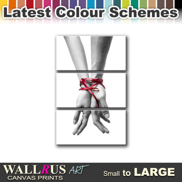 Love Ribbon Hands ABSTRACT  Canvas Print Framed Photo Picture Wall Artwork WA