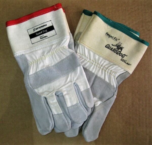 Guard Dog Leather Safety Gloves with Dupont Kevlar $20.30