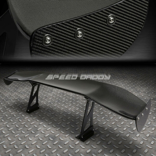 NRG CARBON FIBER GT STYLE 69quot; JDM RACING REAR BACK TRUNK SPOILER WINGBRACKETS $369.99