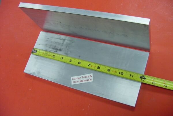 2 Pieces 3 8quot; X 6quot; ALUMINUM 6061 FLAT BAR 12quot; long Plate Mill Stock T6511