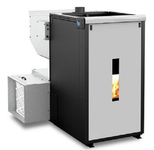 FORCED-AIR THREE CORN WOOD PELLET MULTIFUEL FURNACE STOVE 120000 BTUHr