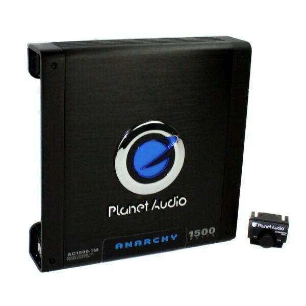 Planet Audio 1500 Watt Mono Block Car Audio Amplifier with Remote AC15001M