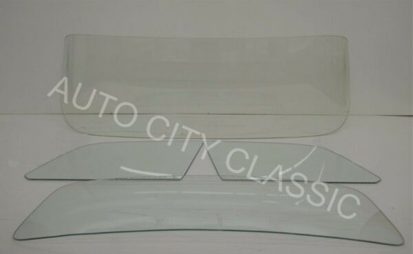 55-56 Ford Thunderbird T-Bird Windshield Doors and Rear Back Glass in Clear Tint