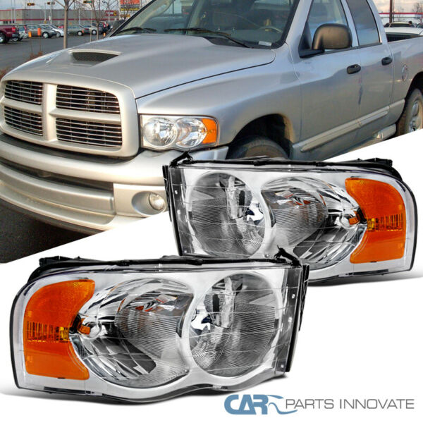 For 02-05 Dodge Ram 150025003500 Pickup Clear Headlights Head Lamps Left+Right