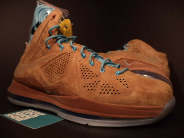 Nike Air Max LEBRON X 10 EXT QS HAZELNUT BROWN TIDE POOL BLUE SAIL 607078-200 12