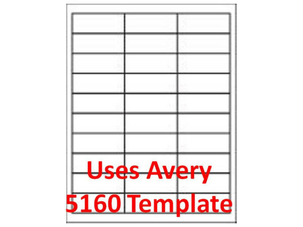5160 Template  Compatable .Laser Inkjet Labels 300000 1