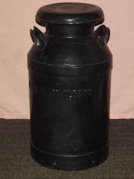 VINTAGE LARGE COOPERDALE DAIRY BROOKLYN CENTRAL DY ALBANY MILK CONTAINER PAIL