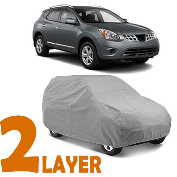 TRUE 2 LAYERS GRAY FITTED SUV COVER OUTDOOR WATER RESISTANT for NISSAN ROGUE