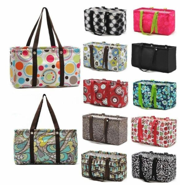 Defect LARGE UTILITY TOTE Organizing bag laundry thirty one new gift 31 basket
