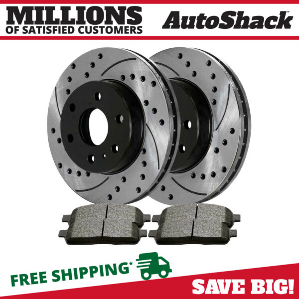 [Front Brake Set] Two (2) Performance Rotors and Four (4) Semi Metallic Pads