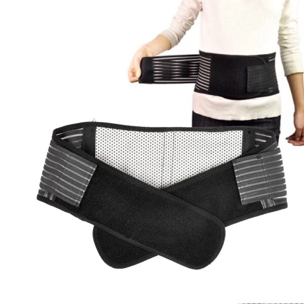 Deluxe Double Pull Magnetic Lumbar  Lower Back Support Belt Breathable Brace
