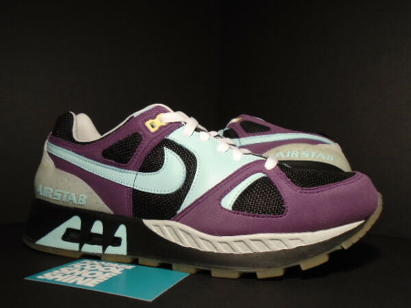 2005 Nike Air Max STAB FOOTPATROL 1 BLACK SKYLIGHT BLUE PURPLE 313094-041 DS 9.5