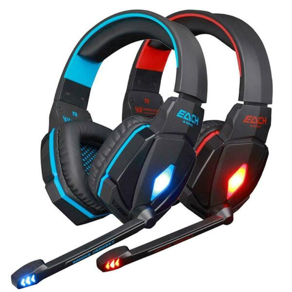 EACH G4000 Pro Game Gaming Headset 3.5mm LED Stereo PC Headphone with Microphone