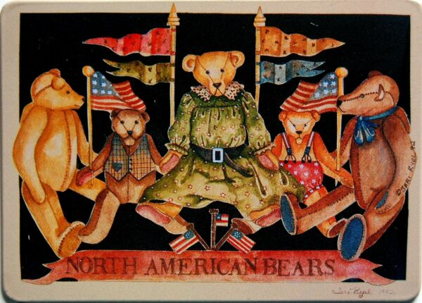 New ANTIQUE VINTAGE TEDDY BEAR Magnet TIN SIGN REPRO 3 78