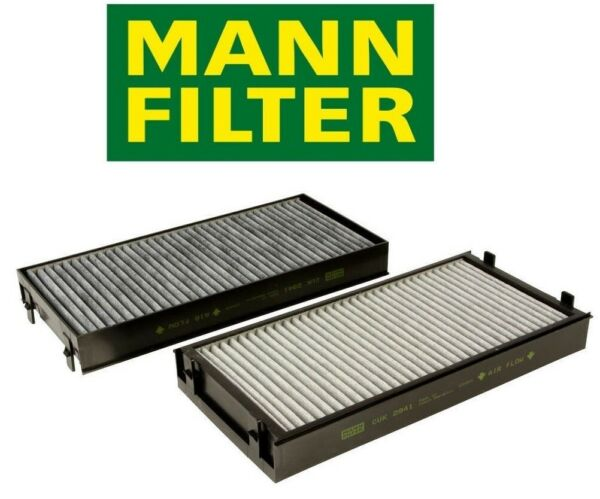 Cabin Air Filter Set for Fresh Air Activated Charcoal Mann For BMW E70 E71 X5 X6