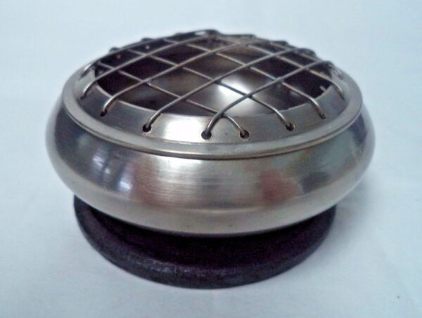 Pewter Censer Incense Burner: 3quot; Screen Top for Charcoal Tablets amp; Resin