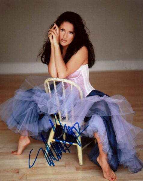 SALMA HAYEK.. Barefoot Beauty - SIGNED